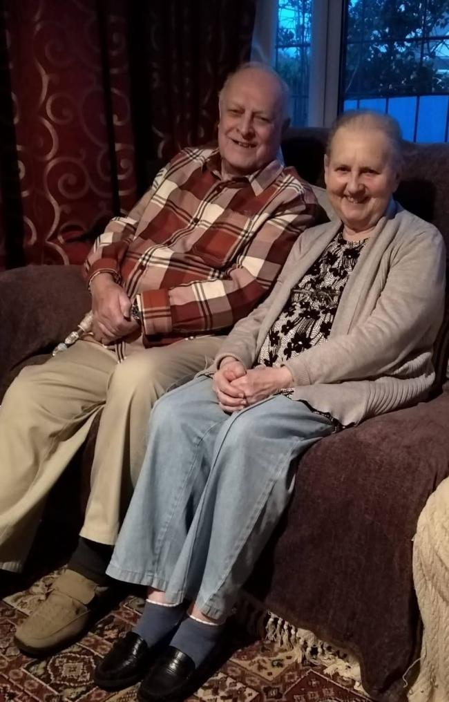 Margaret Fearnhead, pictured with her husband Alan, received a birthday surprise from a United Taxi driver