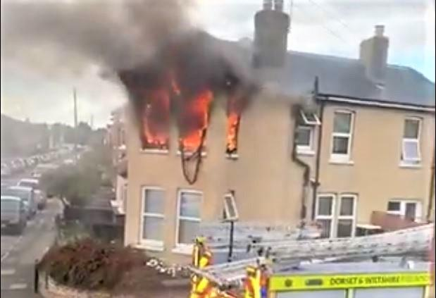VIDEO: Fire rips through Bournemouth home