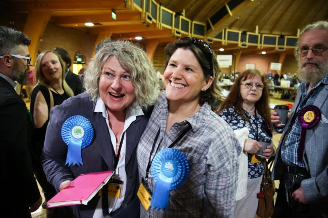 Conservative councillor Beverley Dunlop, left, was elected to represent Moordown in last year's elections