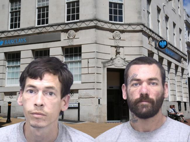 Brothers Paul and Steven Henbest have been jailed for robbing Barclays bank in Old Christchurch Road, Bournemouth