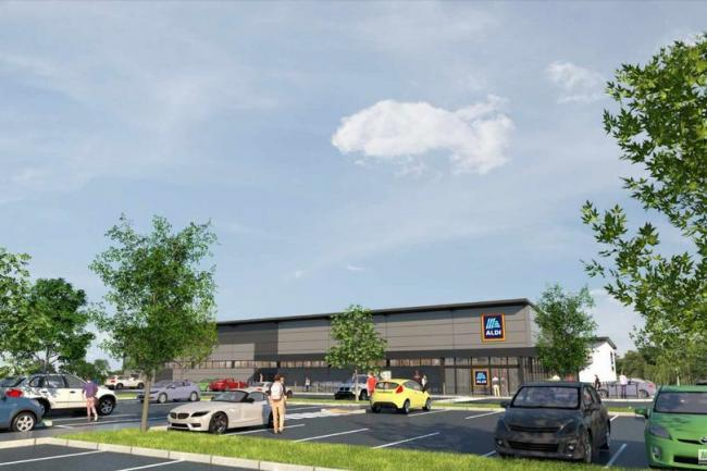 An artist's impression of the proposed new Aldi store, which has been approved by New Forest District Council.