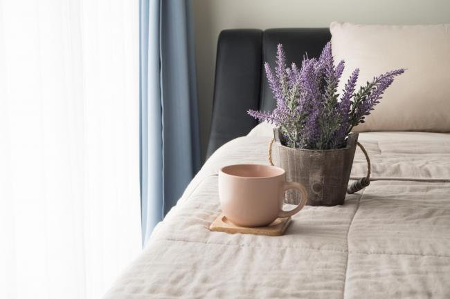 A pot of lavender in a bedroom. Picture: iStock/PA.