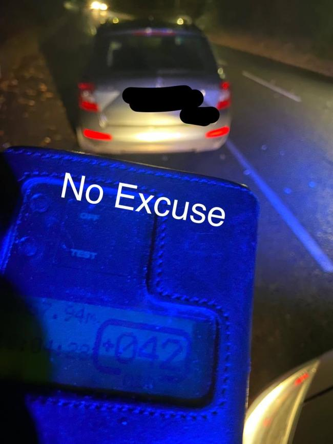 A taxi was stopped by police for speeding in Constitution Hill Road, Poole, on November 11. Picture: Dorset Police No Excuse