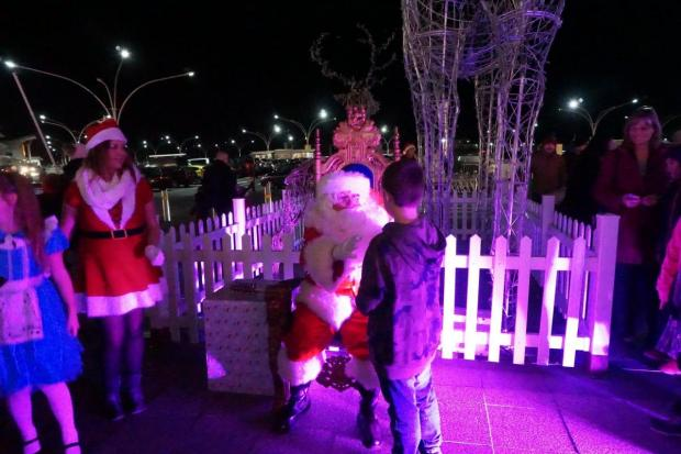 Bournemouth Echo: Father Christmas greeted many excited children