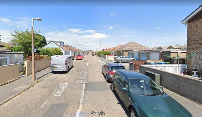 Hilda Road in Poole. Google Street View image