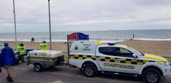 Southbourne Coastguard were called to Fisherman's Walk after concerns were raised about a kitesurfer. Picture: Southbourne Coastguard