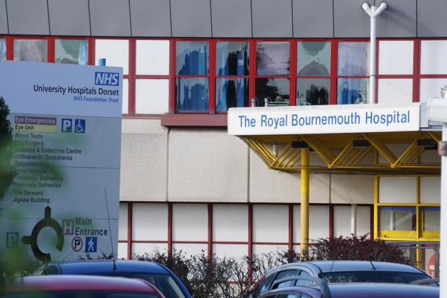 Royal Bournemouth Hospital in Deansleigh Road, Bournemouth. Stock photo