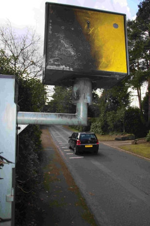 OUT OF ACTION: The camera in Golf Links Drive which has been attacked by arsonists