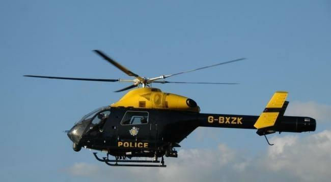 The NPAS helicopter was involved in searches after an e-scooter robbery in Bournemouth