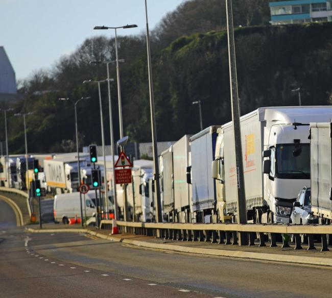Freight lorries at Dover