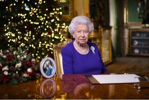 The Queen during the Christmas message. Picture PA/Victoria Jones