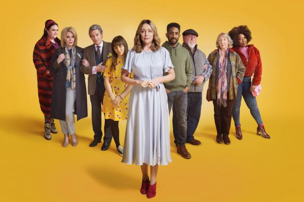 Keeley Hawes as Alice, Sharon Rooney as Nicola, Joanna Lumley as Sarah, Nigel Havers as Roger, Isabella Pappas as Charlotte, Rhashan Stone as Nathan, Kenneth Cranham as Gerry, Gemma Jones as Minnie and Dominique Moore as Yasmina Picture: ITV/Red Productio