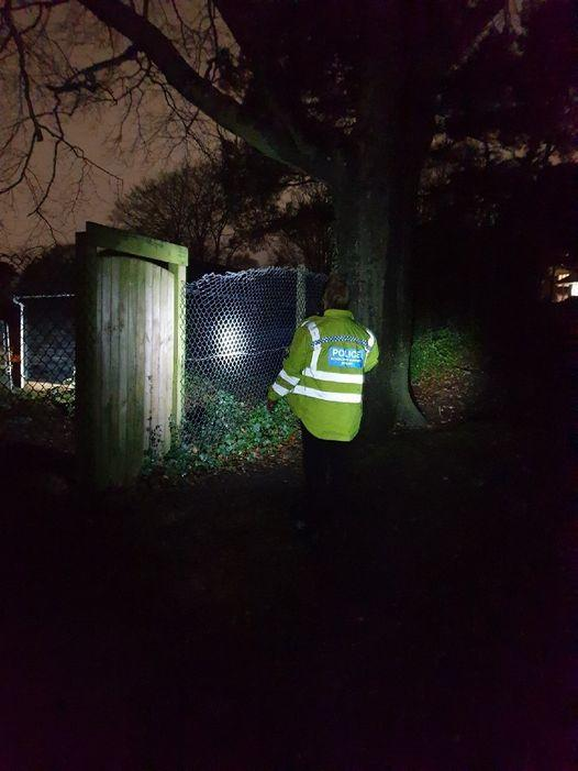 Police were called to Alexandra Park in Poole to reports of further incidents of anti-social behaviour