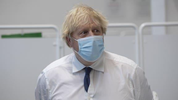 Boris Johnson promises 24/7 Covid-19 vaccinations. (PA)