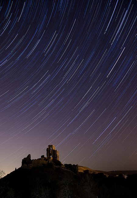 Bournemouth Echo: Corfe Castle Star Trail: Andy Farrer