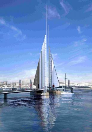 TWIN TOWN: Poole has landed a government grant of £14.1 million for the Twin Sails bridge