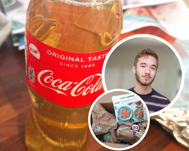 A university student received a bottle of urine in his Hello Fresh delivery box. (Images - Oliver McManus).