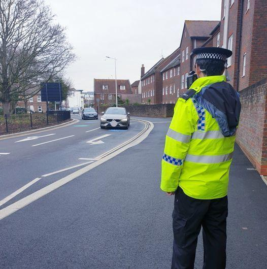 Speed checks were carried out at WesternRoad and Bridge Approach in Poole. Picture: Poole police