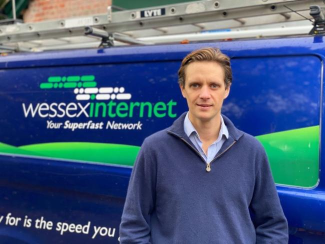 Hector Gibson Fleming, managing director of Wessex Internet