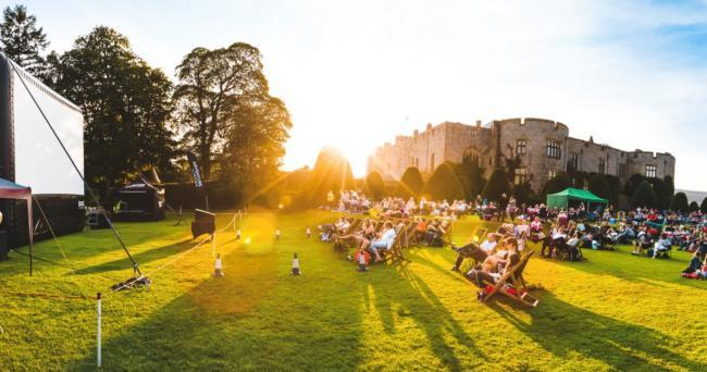 Adventure Cinema event at Chirk Castle, 2019.