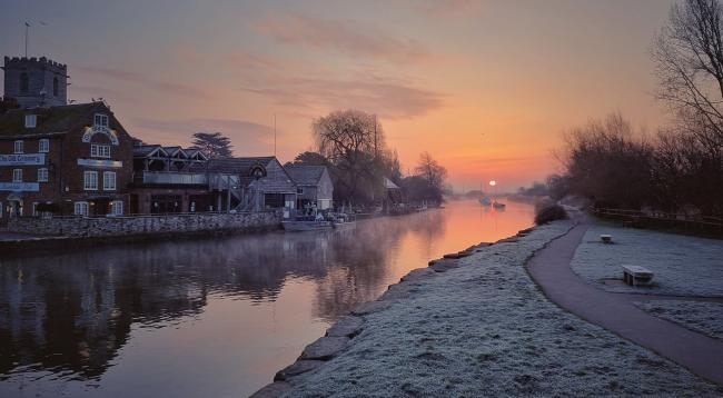 A beautiful frosty morning reflected in the still waters of the River Frome captured at Wareham Quay by Echo Camera Club member Lawrence Christopher Mizen.