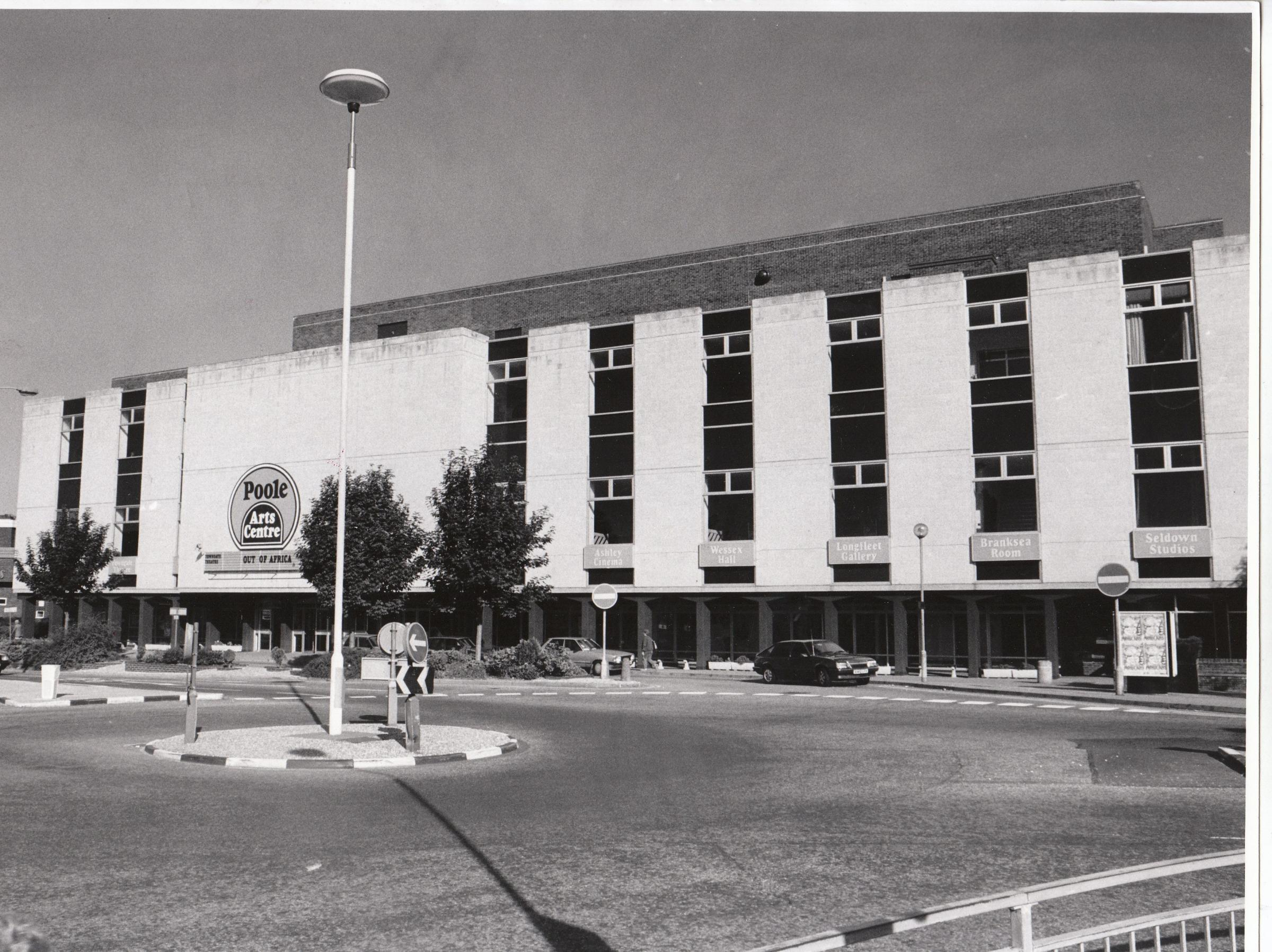Poole Arts Centre in September 1986