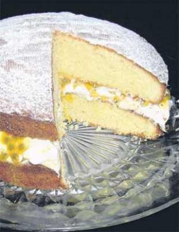 Coconut & Passion Fruit Layer Cake