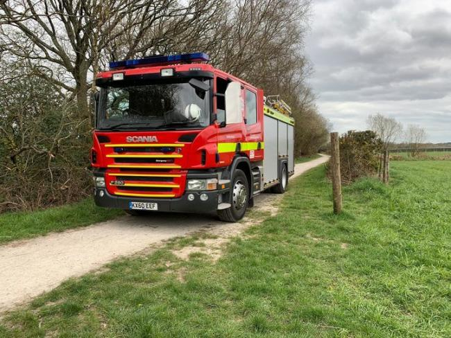 Firefighters wre called to a camp fire at Potterne Park in Verwood. Picture: Verwood Fire Station