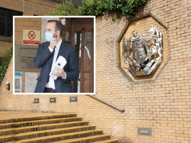 Dorset Police detective constable David Alway leaving Southampton Crown Court