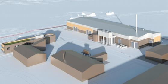 The proposed energy recovery centre