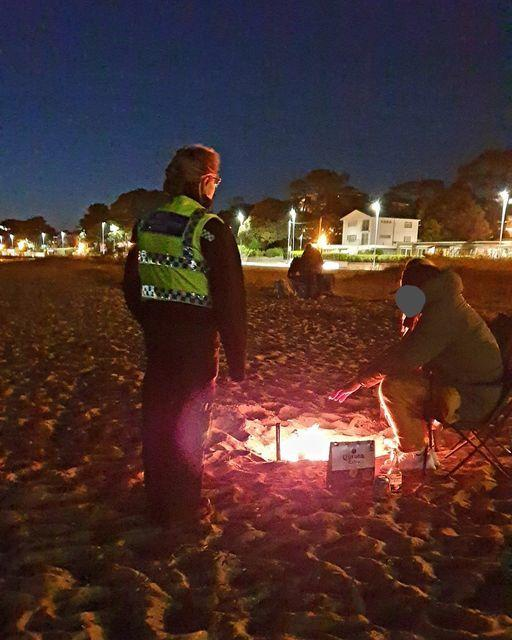 Police have warned the public they face a fine of £1,000 if they start fires on the beach. Picture: Poole Police