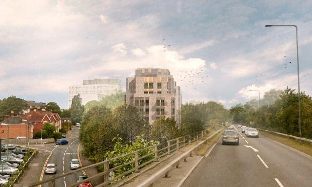 A CGI of the proposed development in Princess Road, Bournemouth