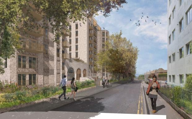 Bournemouth Echo: A CGI of the proposed development in Princess Road, Bournemouth