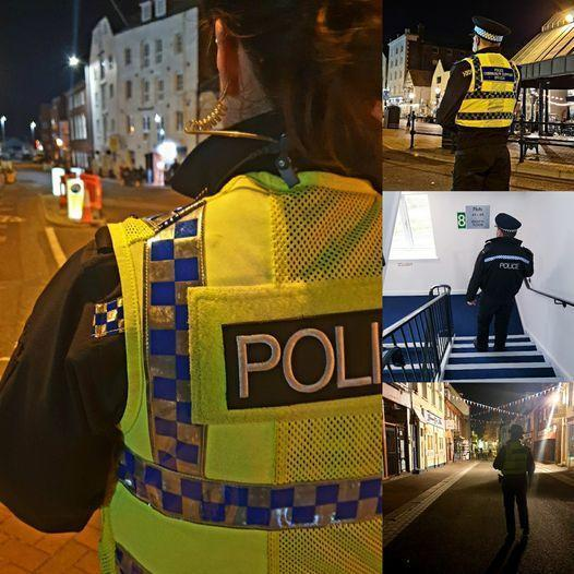 A man was knocked unconscious in the beer garden at The Lord Wimborne Wetherspoons pub in Poole on April 16 2021. Pictures: Poole Police