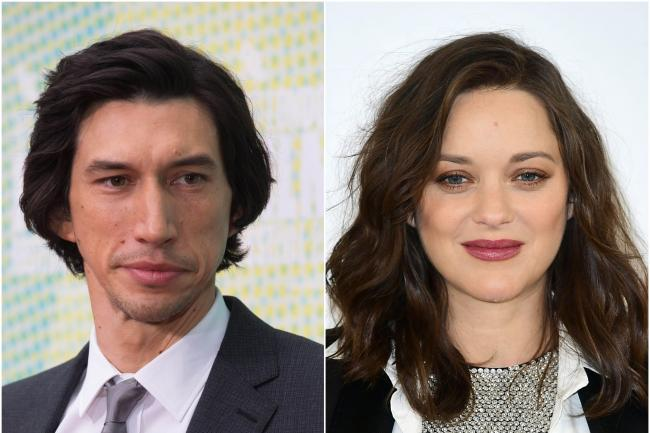 Adam Driver and Marion Cotillard