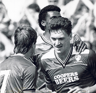 GOALSCORER: Trevor Aylott netted from the penalty spot against Boro in 1987