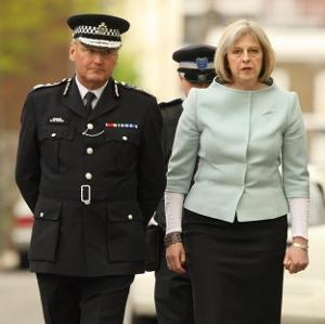 Bournemouth Echo: Home Secretary Theresa May with Metropolitan Police Commissioner Sir Paul Stephenson