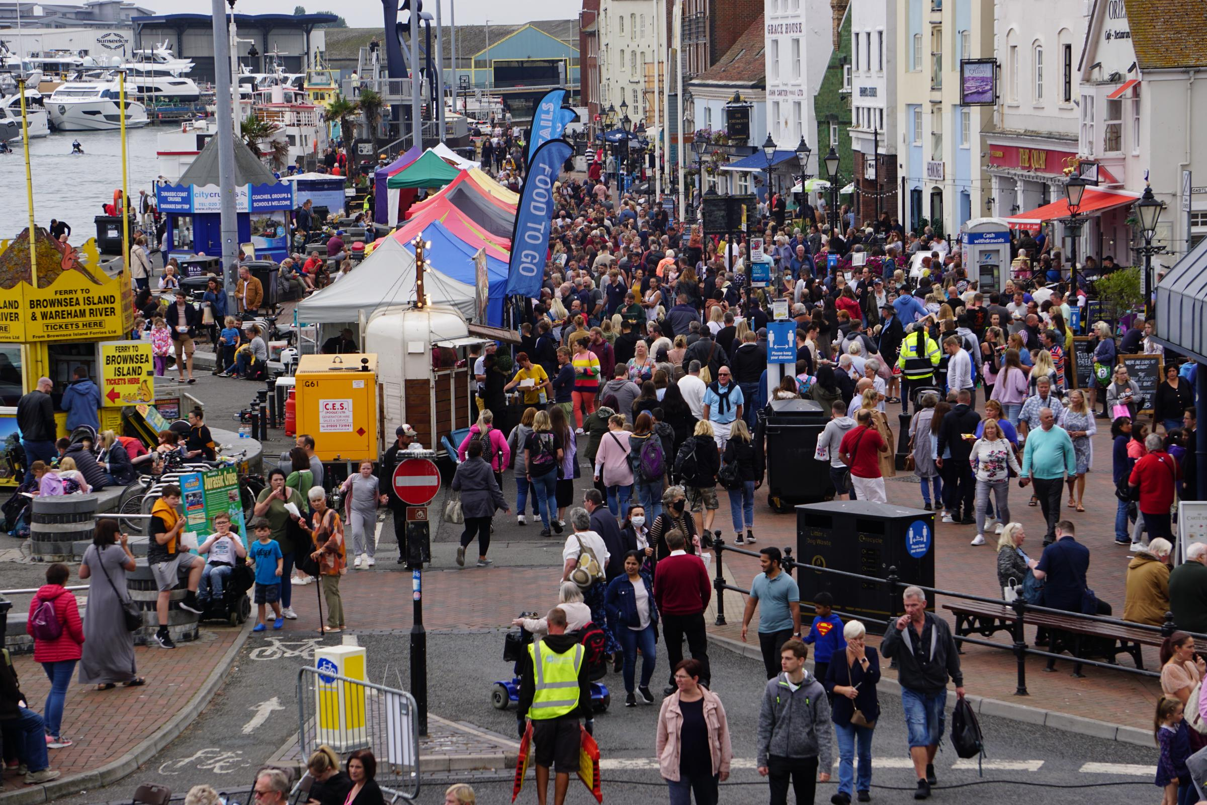 Crowds flock to Poole Quay for first day of Poole Seafood Festival