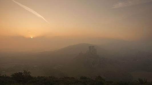 Bournemouth Echo: Corfe Castle Sunrise by Marilyn Peddle