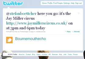 Bournemouth Echo: tweet 2