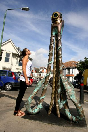 Mixed reaction to Boscombe's new sculptures