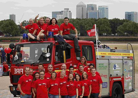 Fire engine trekkers on charity trip at heart of real-life Russian emergency