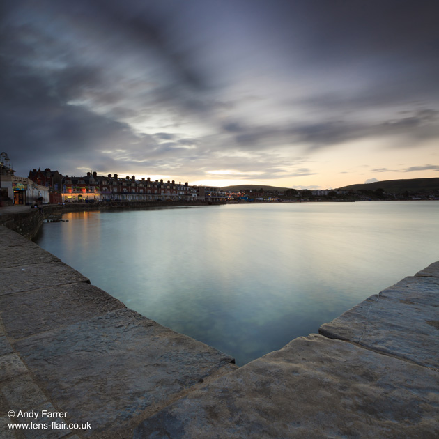 Bournemouth Echo: Swanage quay at dusk by Andy Farrer