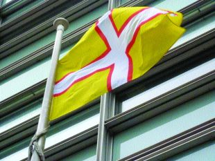 HERITAGE: The Dorset flag at the DCLG HQ