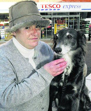 DOGGONE: Shopper Sherry Sourena, 60, left Tetley outside a Tesco store and came out to find he'd been sold