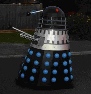 A life-sized Dalek has also been left behind