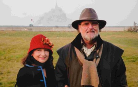 Enzina and Gerry on their first holiday together at Mont Saint-Michel, 2009