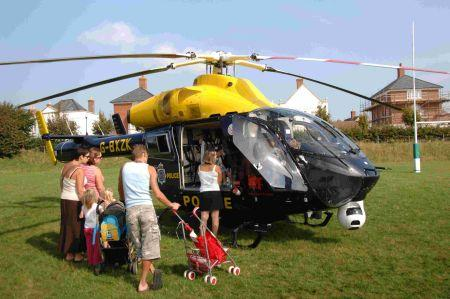 Dorset Police helicopter's 'meet and greet' with the public