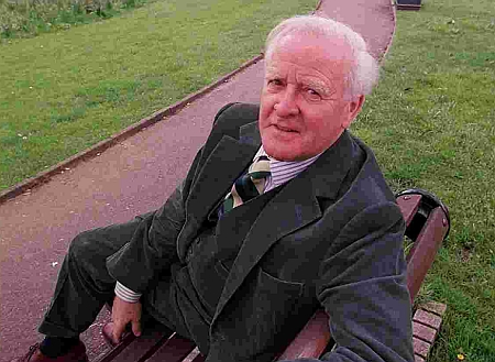 Author John Le Carre, whose real name is David Cornwell, pictured in Parkstone in 1999