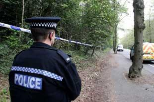 Police Seal Off Woods At Redhill Park